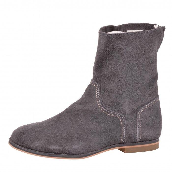 Reef Low Desert Leder Boot Schuhe Sneaker Damen Damens Grau Grau