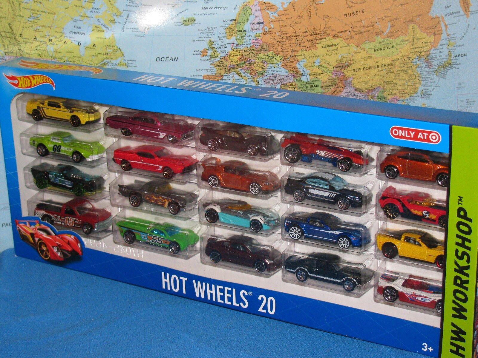 HOT WHEELS HW WORKSHOP WORKSHOP WORKSHOP SET OF 20 CARS DIECAST BRAND NEW & VHTF 08267a