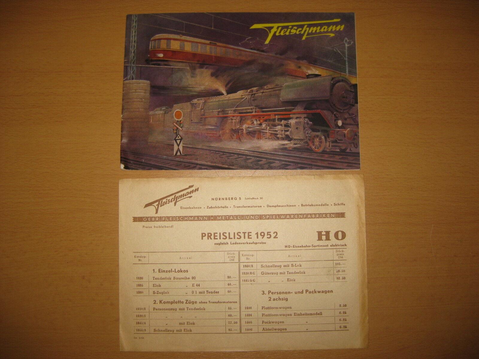 Fleischmann CATALOGO CON LISTINO PREZZI 1952/r569