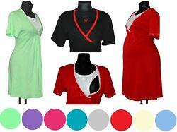 Stillnachthemd Nachthemd 2in1 Schwangerschaft / Stillen viele Farben  Baumwolle