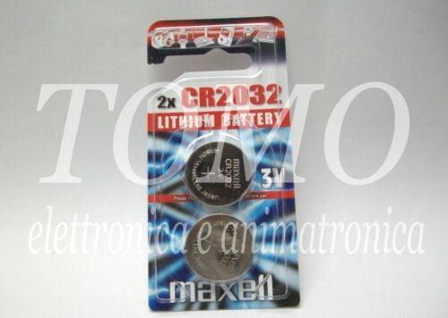 Batteria CR2032 2032 BR2032 3V al litio Maxell in blister da 2 pezzi