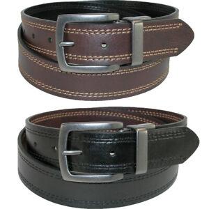 Dickies Men/'s  Reversible Leather Belt Tan Black