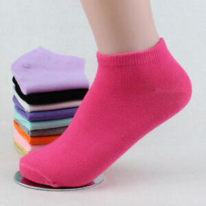 Low Cut 5//10Pairs Lots Ladies Boat Short Cotton Women Ankle Socks Gift Pink Blue