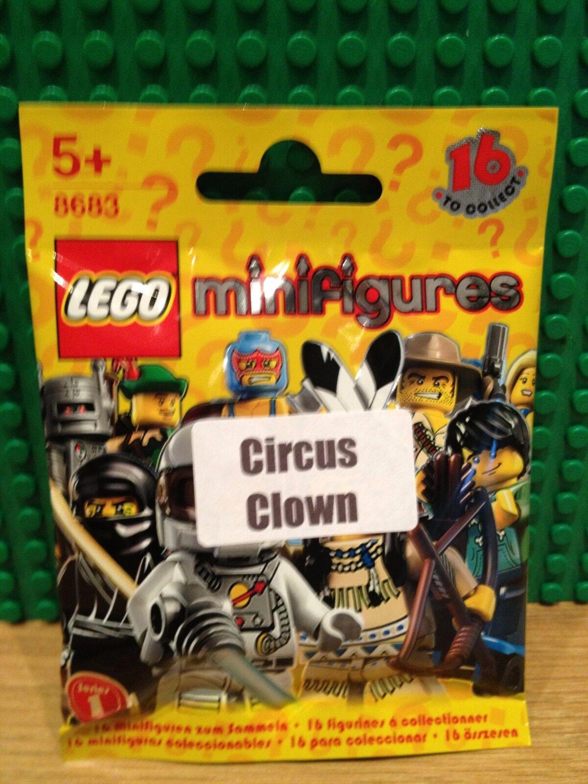LEGO 8683 SERIES 1 .CIRCUS CLOWN BRAND NEW SEALED