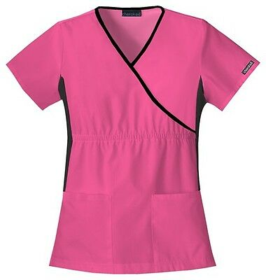 Cherokee Scrubs Flexibles V Neck Scrub Top 2500 SHOCKING PINK