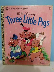 ",,VTG.1978 LITTLE GOLDEN BOOK WALT DISNEY'S ""THREE LITTLE PIGS""  VG CONDITION"