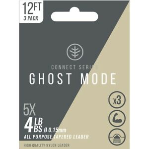 3-Pack-Tapered-Leaders-for-fly-fishing-Ghost-Mode-12ft-leaders-Choice-of-sizes