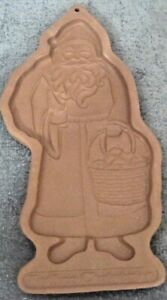 1990-LONGABERGER-FATHER-CHRISTMAS-POTTERY-COOKIE-OR-CHOCOLATE-MOLD