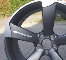 6x BMW /// M Performance Aufkleber für Räder Emblem Logo