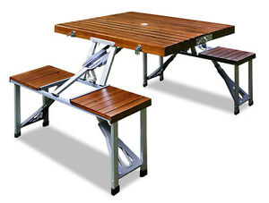 Deuba Camping Table Bench Set, 101157 | eBay