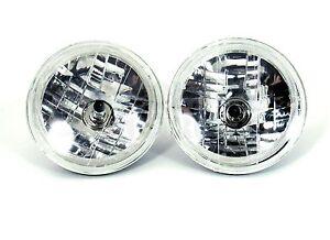 7-034-Standard-Black-Dot-Headlight-with-LED-Lights-H4-Blub-12V-by-Pair
