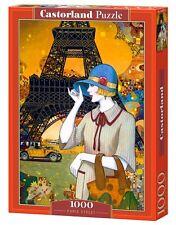 Castorland C-103591 Puzzle Paris Street Stadt Eiffelturm Frau 1000 Teile