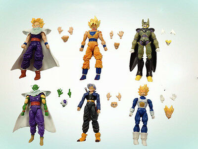 Lot 6 pcs Dragonball Z Dragon ball DBZ Joint movable Action Figure Toy US SHIP