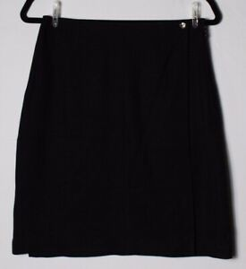 Tommy-Bahama-Women-039-s-Black-Wrap-Front-Pencil-Skirt-100-Silk-Size-10