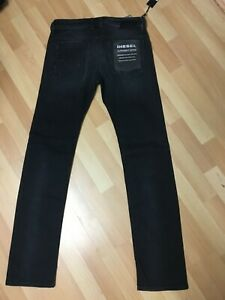NWD-Diesel-Safado-Stretch-Denim-0683Q-NERO-SLIM-W29-L32-H7-RRP-150