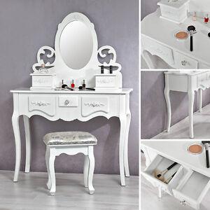 schminktisch mit spiegel und hocker frisierkommode schminkkommode wei barock e ebay