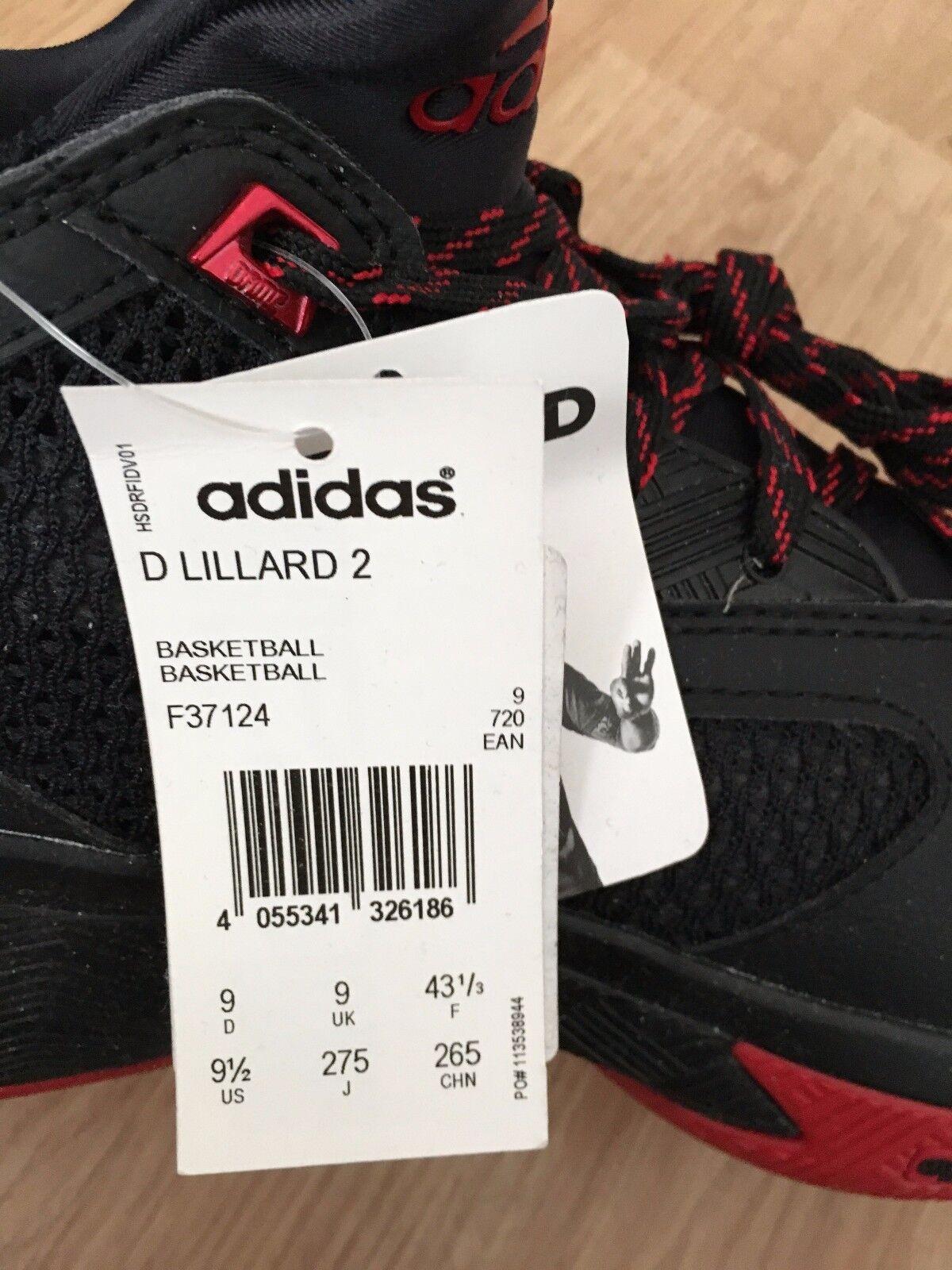 Adidas Adidas Adidas d lillard 2 f37124 ROT scarlet schwarze dame damian portland entfernt straße krachen 8e7ae3