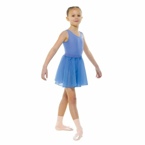 éi Prune ou Bleu ciel Règlement en mousseline de soie Circulaire Ballet Jupe En