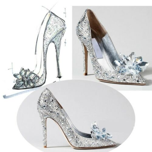 DIY Shoe Decoration Crystal Luxury Women Clothes Charms High Heels Sandals Pumps