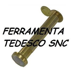 Dettagli su SPIONCINO OCCHIO MAGICO PER PORTE D\'INGRESSO DORATO DIAMETRO 12  MISURA 40/60