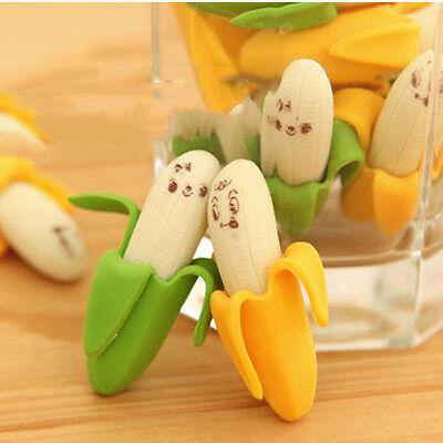 Novelty Banana Rubber Pencil Eraser Stationery Children Kid EncourageToy 2 Cool