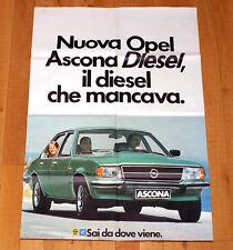 OPEL ASCONA DIESEL poster manifesto affiche Car Automobile Auto Berlina GM