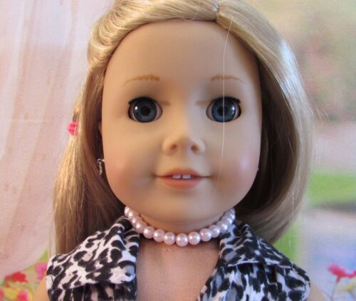 Pink Faux Pearl Choker Necklace For American Girl Doll /& Kidz N Cats Dolls 18/""