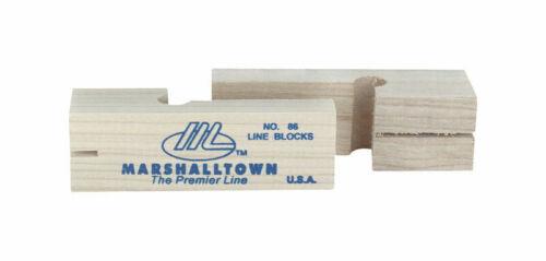 "Marshalltown Wood LINE BLOCK 3-3//4/"" Ensure Straight Row Bricks Mason Line 86 NEW"
