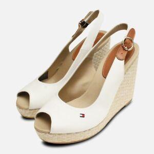 6a6d990ea Image is loading Tommy-Hilfiger-Elena-Platform-Sandals-in-Whisper-White