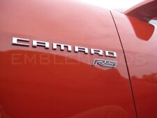 """GM LICENSED, 2010+ CAMARO """" RS """" Emblem Stainless Steel Nice!"""
