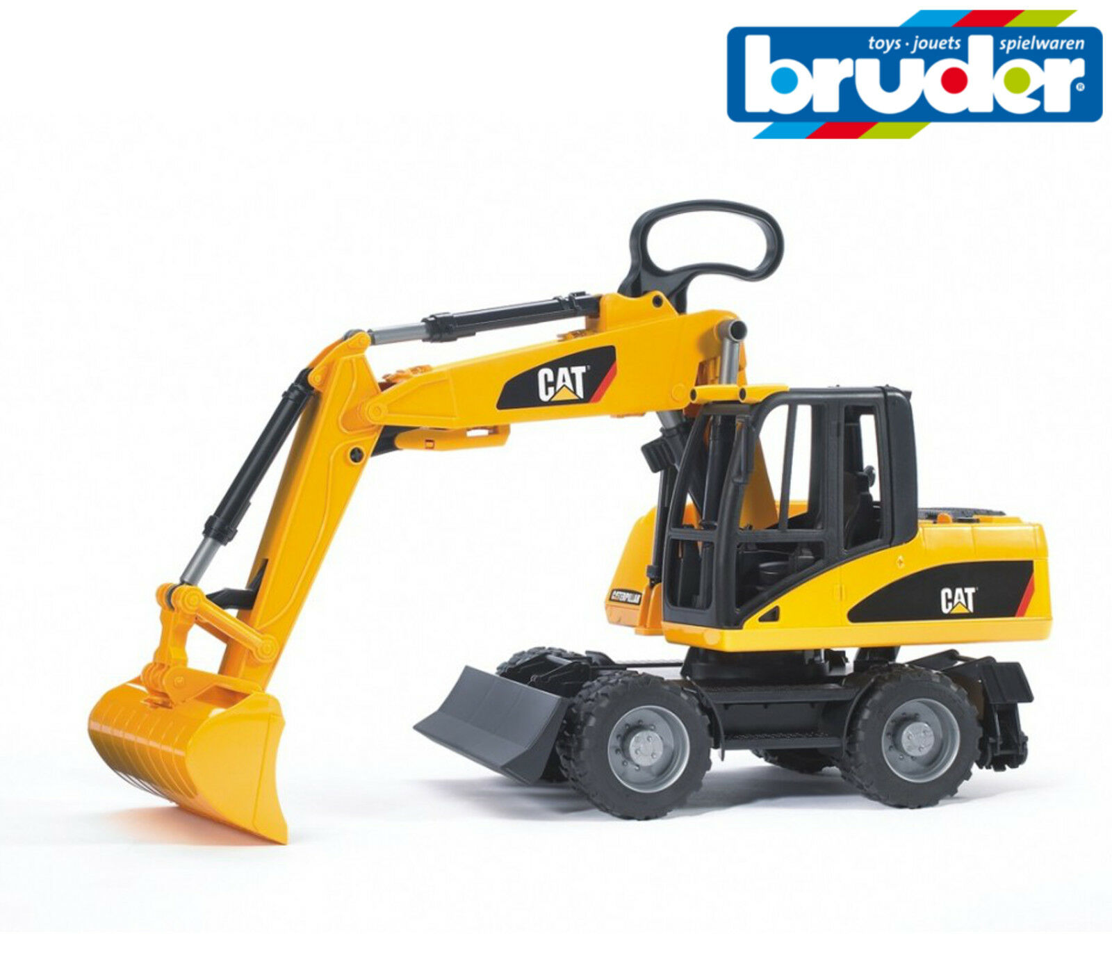 Bruder Toys 02445 Cat Caterpillar Wheeled Excavator Loader Moving Arm 1 16 Scale