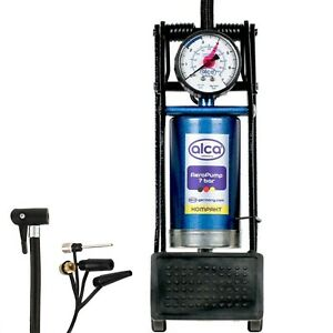 Premium-Floor-Foot-Air-Pump-7-BAR-100-PSI-Portable-Car-Bike-Tyre-Alca-Kompakt