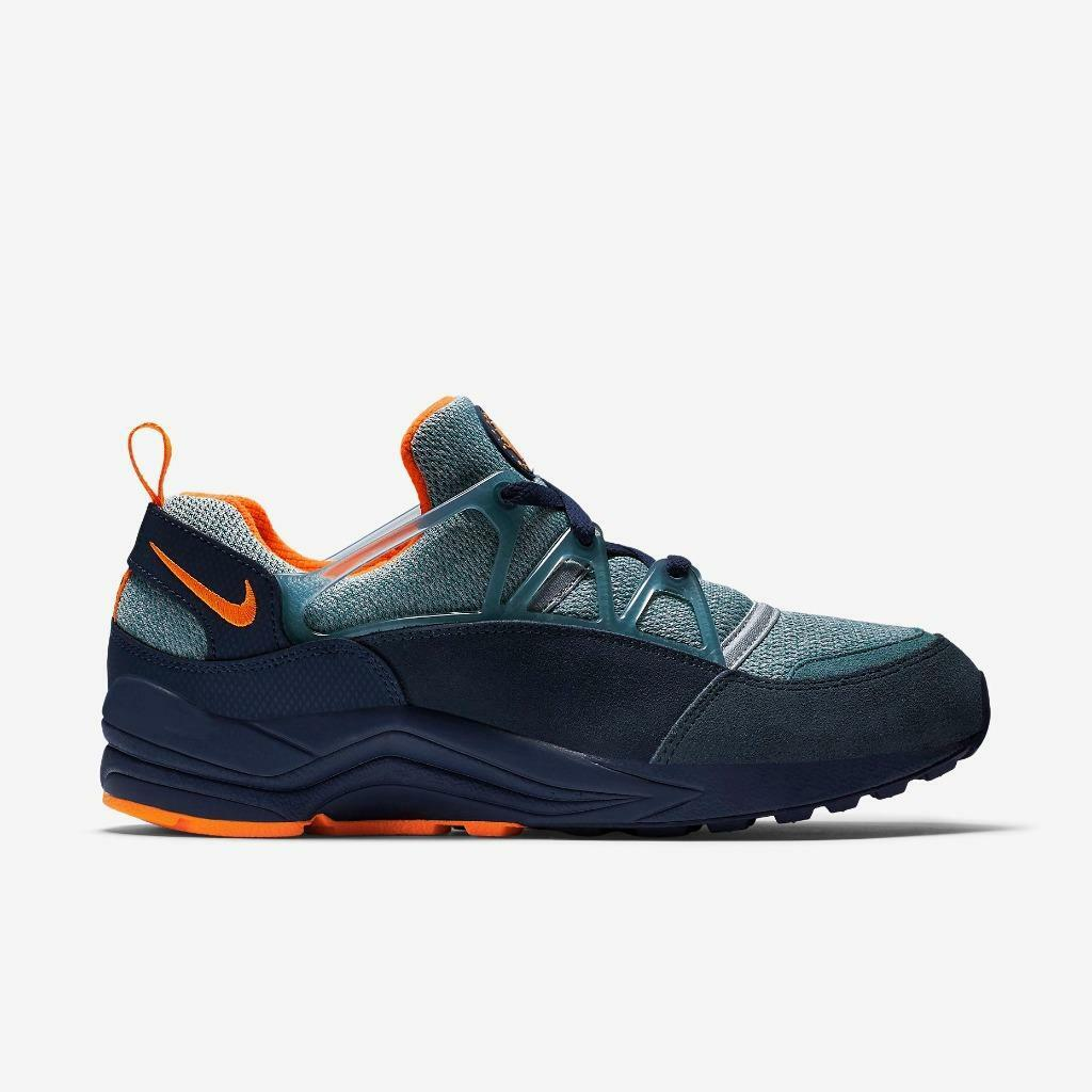 The most popular shoes for men and women NIKE AIR HUARACHE LIGHT 306127 402 MIDNIGHT NAVY/BRIGHT CITRUS ORANGE/SQDRN BLUE
