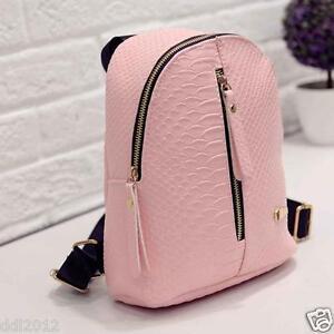 New-Women-Girls-Backpack-Travel-PU-Leather-Handbag-Rucksack-Shoulder-School-Bag