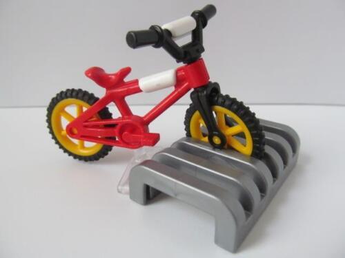 Playmobil Child-sized bike /& rack NEW dollshouse//city//playground extras