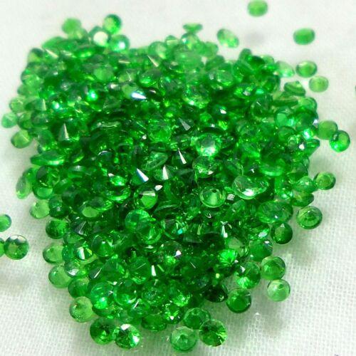 All Size Diamond Cut Round Natural Emerald Green Tsavorite Garnet 50 Piece Lot