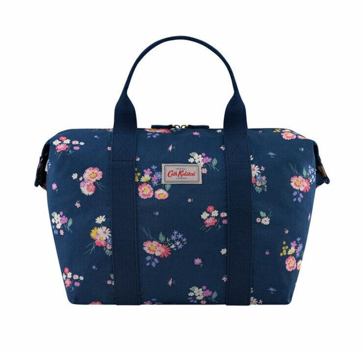 Cath Kidston Busby Bunch Shopper Bag Foldaway Small Weekend Bag Floral BNWT