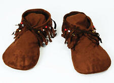 Womens Fabric Moccasin Style Shoes Indian Hippy Footwear Fancy Dress