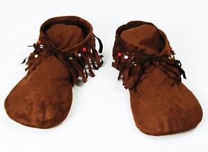 Para Mujer Tela Moccasin Zapatos Estilo Indio Hippy Calzado Fancy Dress