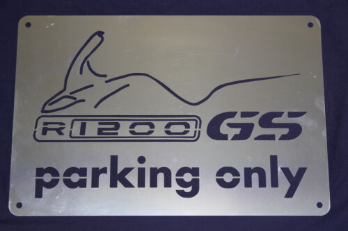Parkplatz BMW R1200GS Parking plate stainless steel BMW R1200GS GIFT