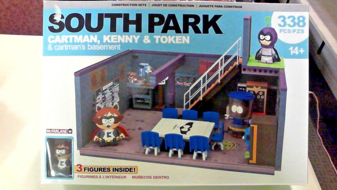 McFarlane South Park Cartman, Kenny & Token & Cartman's Basement  338 pcs
