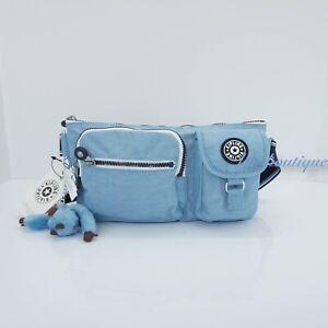 Details About Nwt New Kipling Ki0299 Presto Pack Hip Waist Bag River Blue Varsity Strap