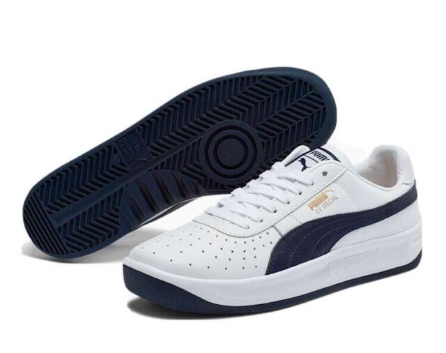 New! PUMA GV Special+ Sneakers White & Navy Men Shoe Sport Classics Men's Size 7