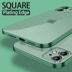 For-iPhone-11-12-Pro-Max-X-8-XS-XR-Square-Plating-Edge-Soft-Silicone-Case-Cover