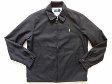 New Ralph Lauren Polo Black 100% poly Windbreaker Pony Logo Jacket sz XXL