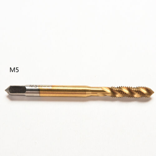M3 M4 M5 M6 M8 Titanium HSS Screw Metric Spiral Fluted Machine Hand Tap Kit JP