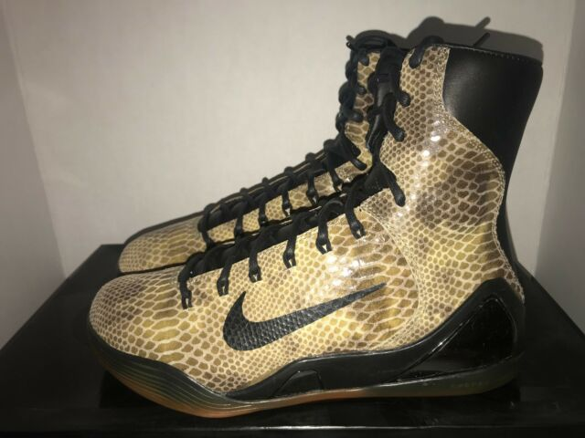 Nike Kobe IX High EXT QS Sz 9 Men Snake Skin Basketball 716616 001 ... 3115c2ed88