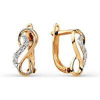 Solid 9ct Gold Beauty Huggie Hoop Leverback Cz Earrings