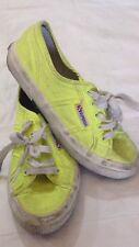 Superga - scarpe da ginnastica - n° 35 - colore giallo - con stringhe - USATE