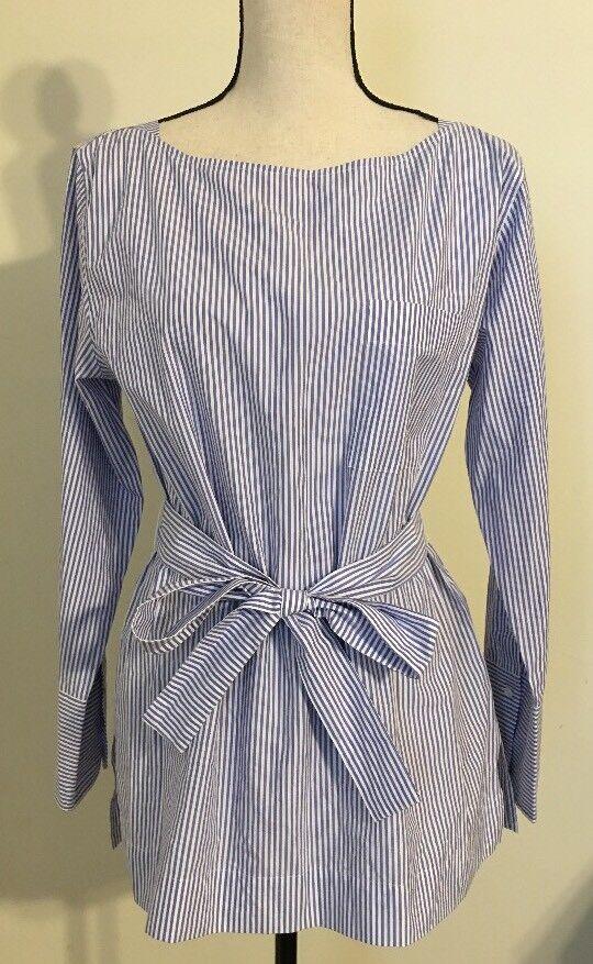 NEW JCREW  Striped boatneck tunic with tie Größe8 G1316 SP17